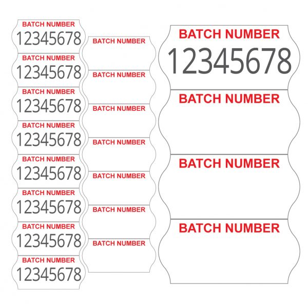 2612 one line batch number labels