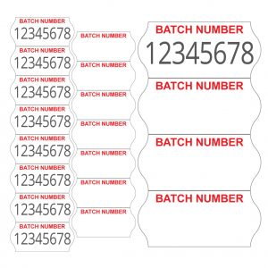 2612 one line batch number labels