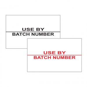 use by batch labels