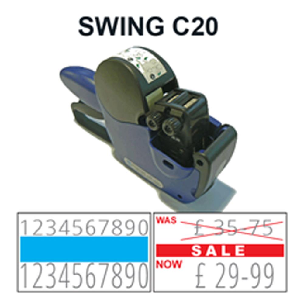 swing c20 2 line label gun