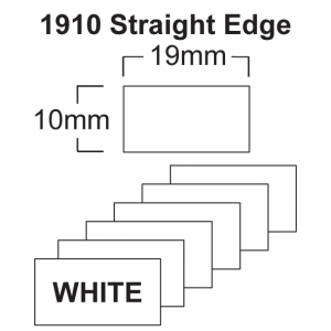 1910 White Price Gun Labels - 19 x 10mm Pricing Gun Labels