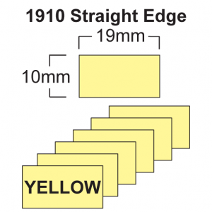 1910 Yellow Price Gun Labels - 19 x 10mm Pricing Gun Labels